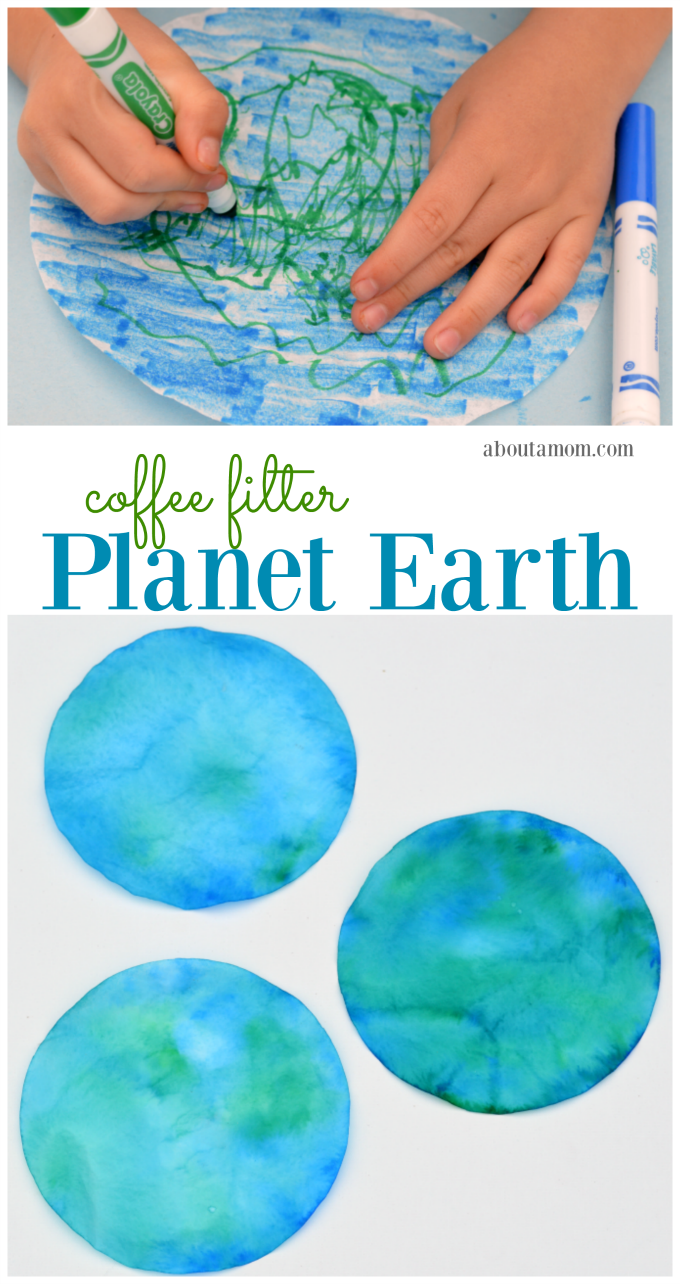 coffee filter planet earth craft for kids earth craft coffee