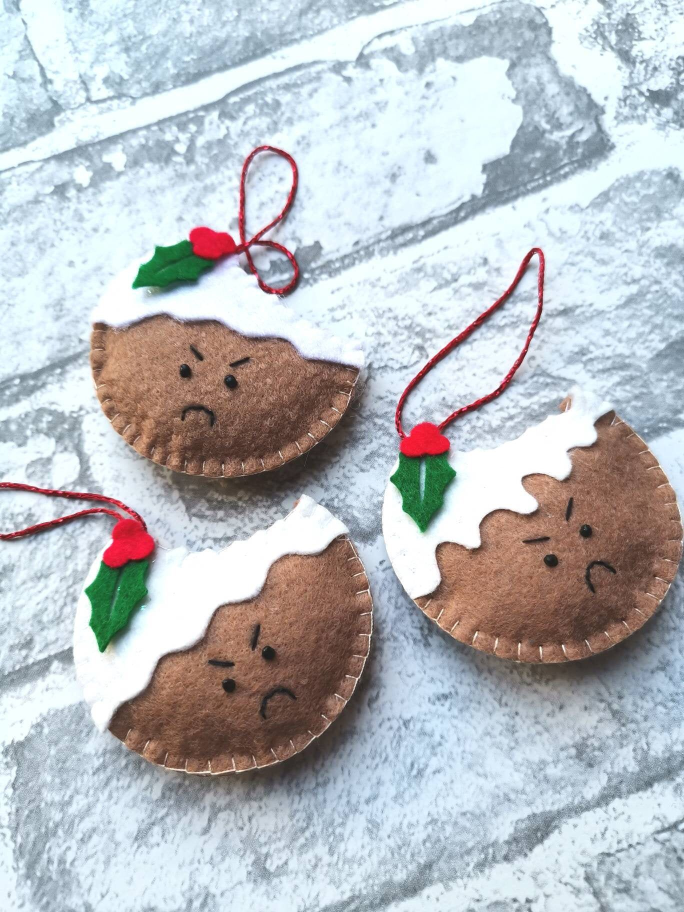 Excited to share this item from my shop: Christmas Pudding Decoration, Christmas Pudding Tree Decoration, Christmas Decorations, Christmas Decor, Christmas Pudding Ornament, Biten