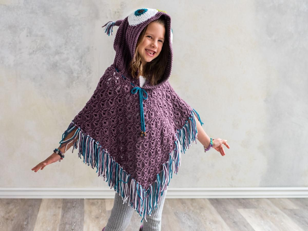 Owl Poncho Crochet Kit | Ponchos
