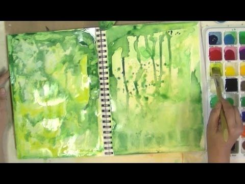 Six Background Techniques For Art Journaling Mixed Media
