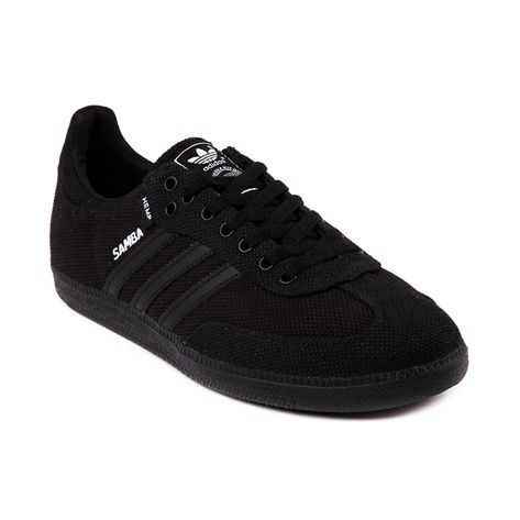 all black leather adidas trainers