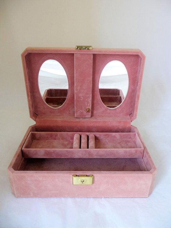 Pink Velvet Jewellry Box Musical Jewelry Box Made In Canada