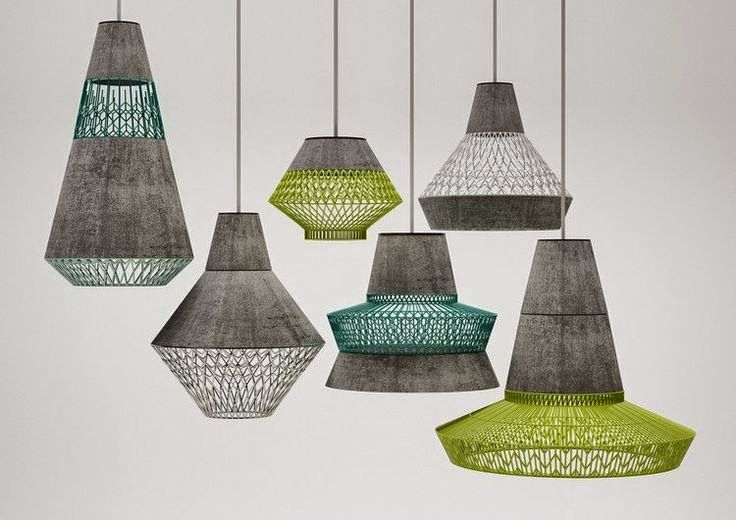 Varied texture/material giving not only physical aesthetic value, but also affects the light produced.
