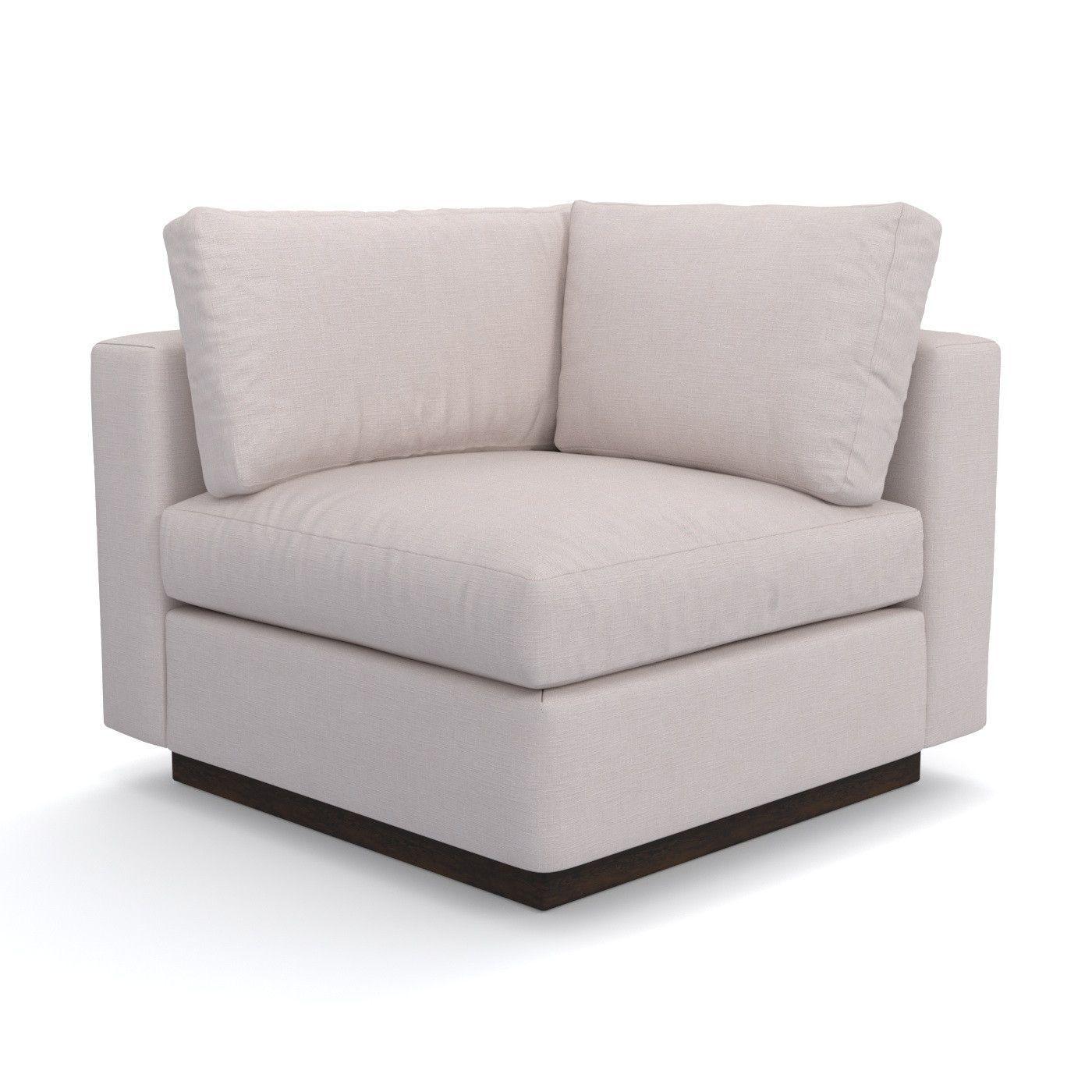 Taylor Plush Corner Seat :: Leg Finish: Pecan