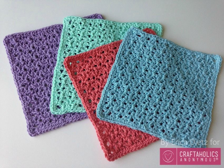 How to Crochet Washcloths Tutorial | Aprender crochet, Patrón de ...