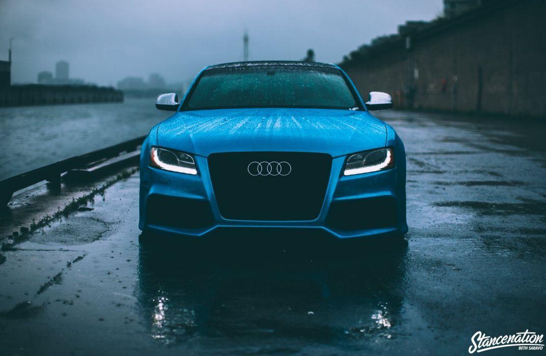 Audi S5 Reiger Blue Modified Cars Coupe Wallpaper Audi S5 Super Cars Car Wheels