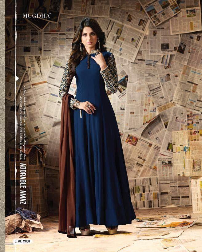 f08e78586c Mugdha Extreme Staring jennifer winget Wholesale Gowns(8 pc set ...