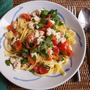 mozzarella recept pasta