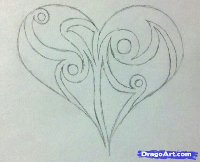 Cool Heart Beginner Sketch Drawing Pictures Www Picturesboss Com
