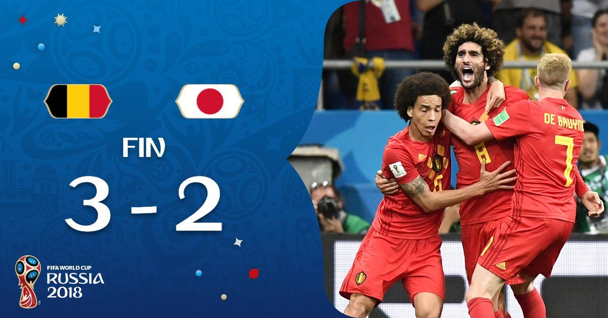 World Cup 2018 Belgium Vs Japan 3 2 Highlights Japan World Cup Japan Highlights World Cup