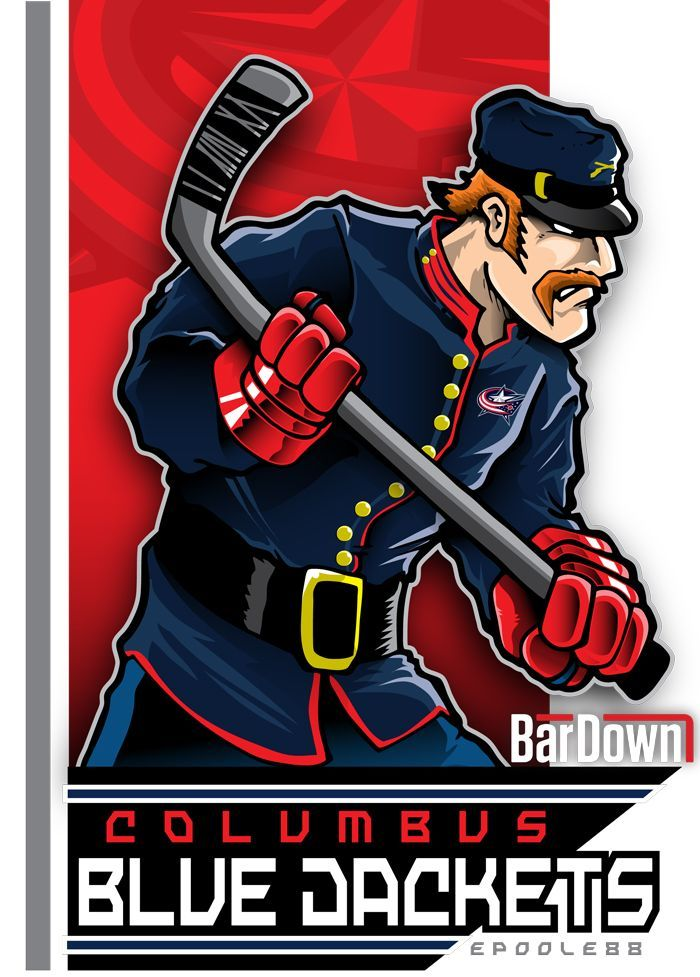 Damned if I don't LOVE this.  The Columbus Blue Jackets, brought to life by Eric Poole. Check out more of his work at epoole88.tumblr.com