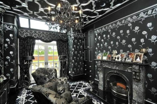 House · Weird Interiors, Gothic Living Room ...