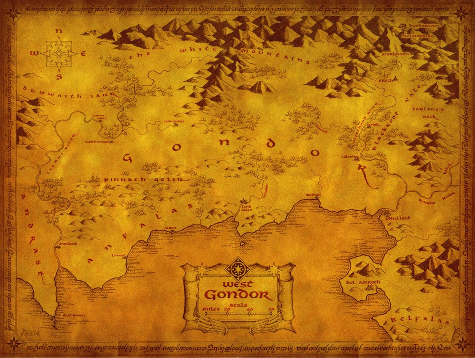 Mapa Tierra Media Hd.Mapa Tierra Media Hd Mapa