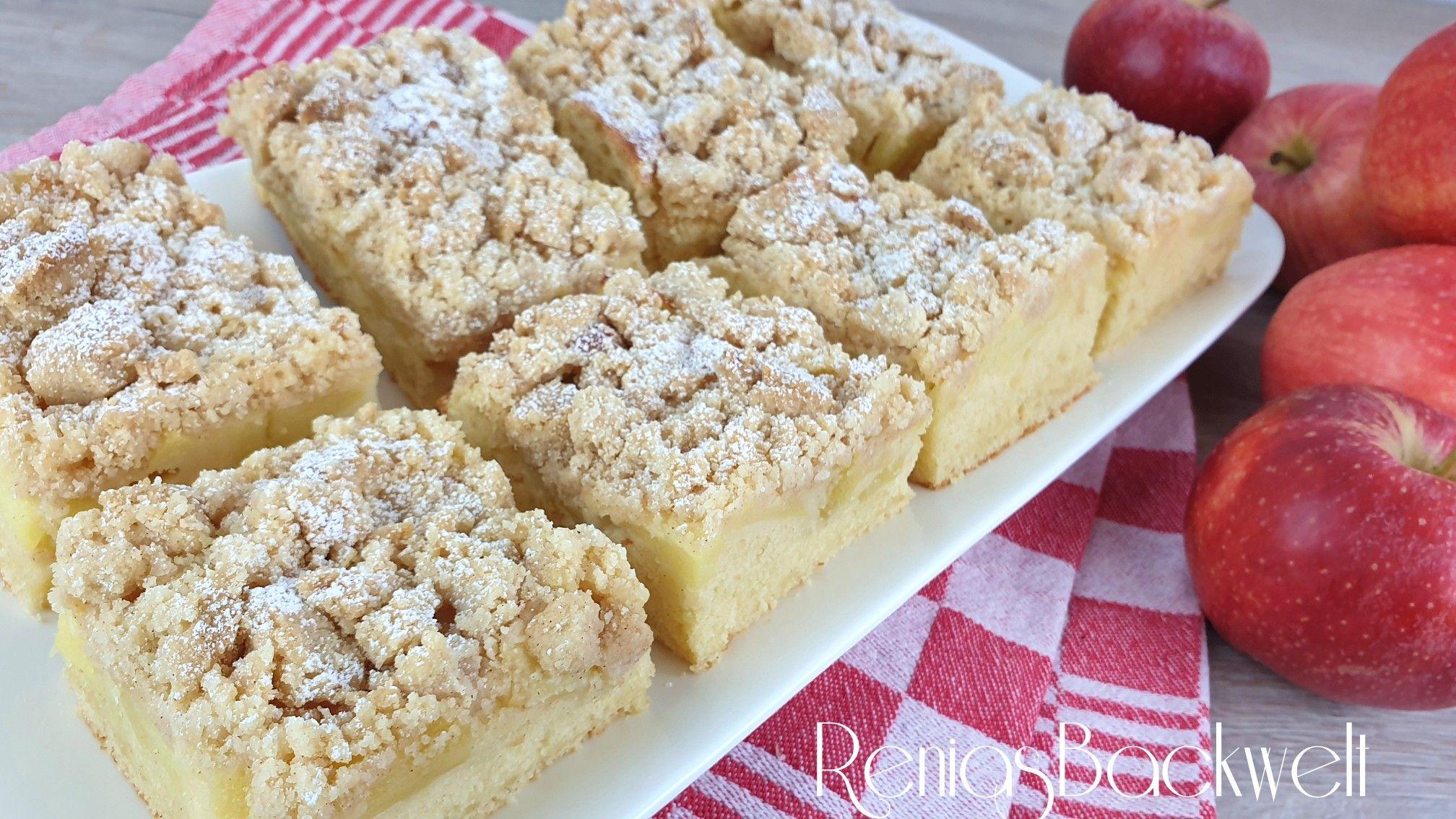 Saftiger Apfelkuchen Vom Blech Einfach Schnell Lecker Apfelblechkuchen Mit Streusel Apfelkuchen Rezept Mit Streusel Apfelblechkuchen