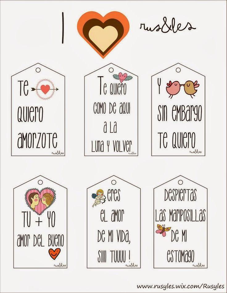 Etiquetas San Valentin En Espanol Etiquetas Para Regalo