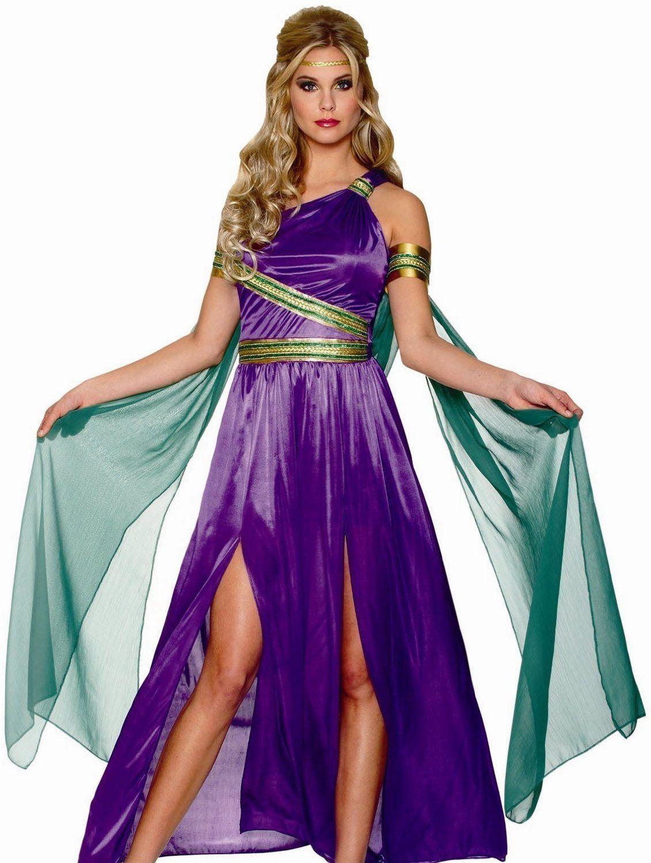 mardi gras costumes for women   Sexy Roman Greek Goddess Purple ...