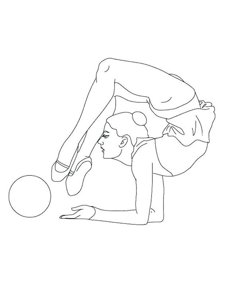 Gymnastics Coloring Pages Printable In 2020 Sports Coloring Pages Online Coloring Pages Online Coloring