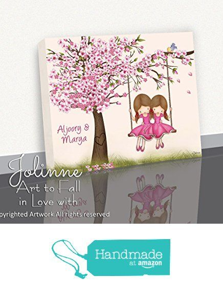 Cherry Blossom Tree Girls Wall Art Decoration Canvas Print Sisters Bedroom Personalized Text Picture 8x10 1 Girls Wall Art Wall Art Decor Cherry Blossom Tree