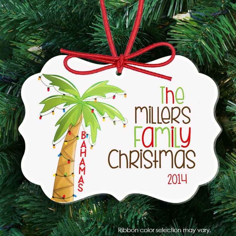 personalized Christmas ornament, family reunion holiday ornament