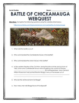 a history of the battle of chickamauga of the civil war An in-depth study of the battle of chickamauga  military history and of the american civil war are indebted to him  synopsis of a civil war battle,.