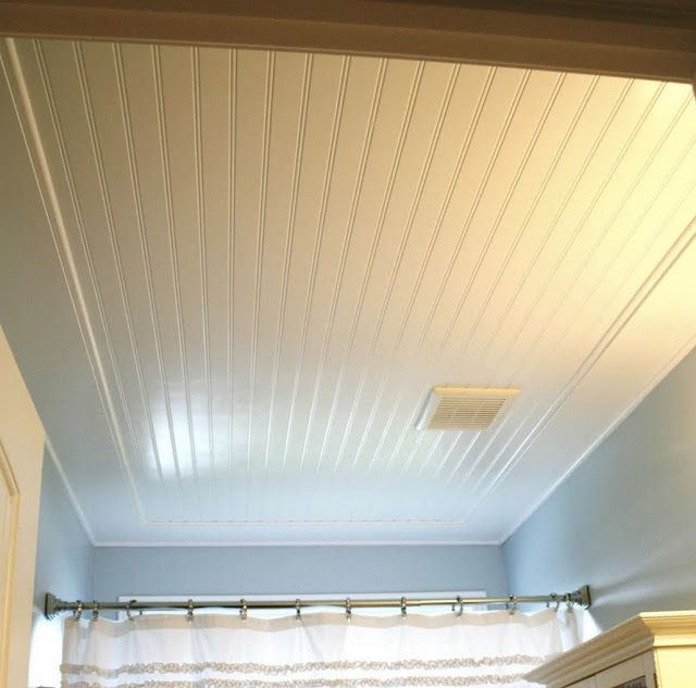 The Room Looks With Beadboard Ceiling Painted Semi Gloss White Picture Home Diy Home Projects Interior Decorating Blog