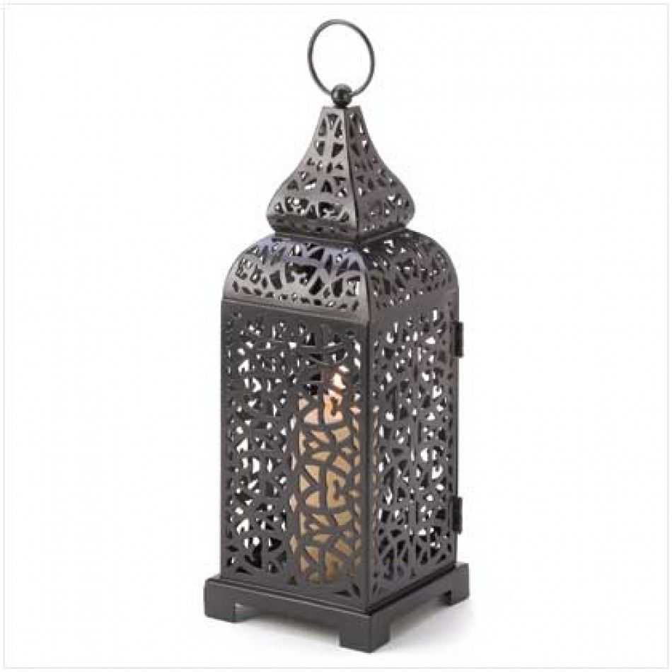 Moroccan Tower Candle Lantern [13176 Moroccan Tower Lantern ...