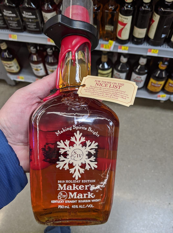 2019 Maker S Mark Holiday Edition Kentucky Bourbon In 2020 Bourbon Maker S Mark Bourbon Whiskey