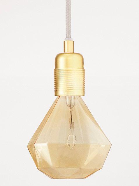 diamond lightbulb in cognac by Frama