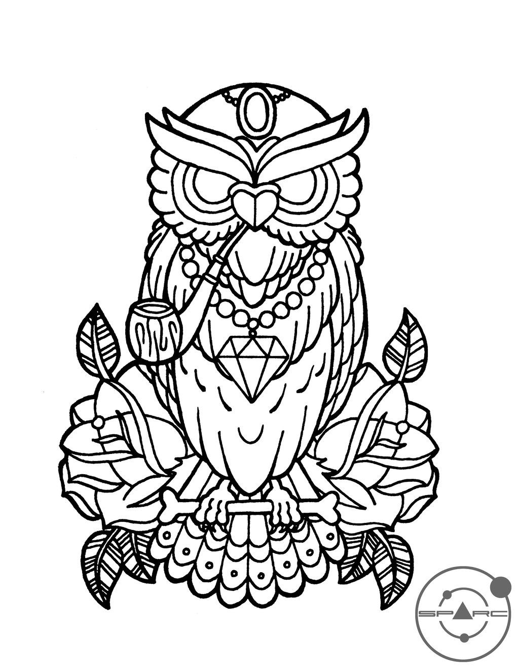 owl++love+coloring+pages | deviantART: More Like Chrysanthemum ...