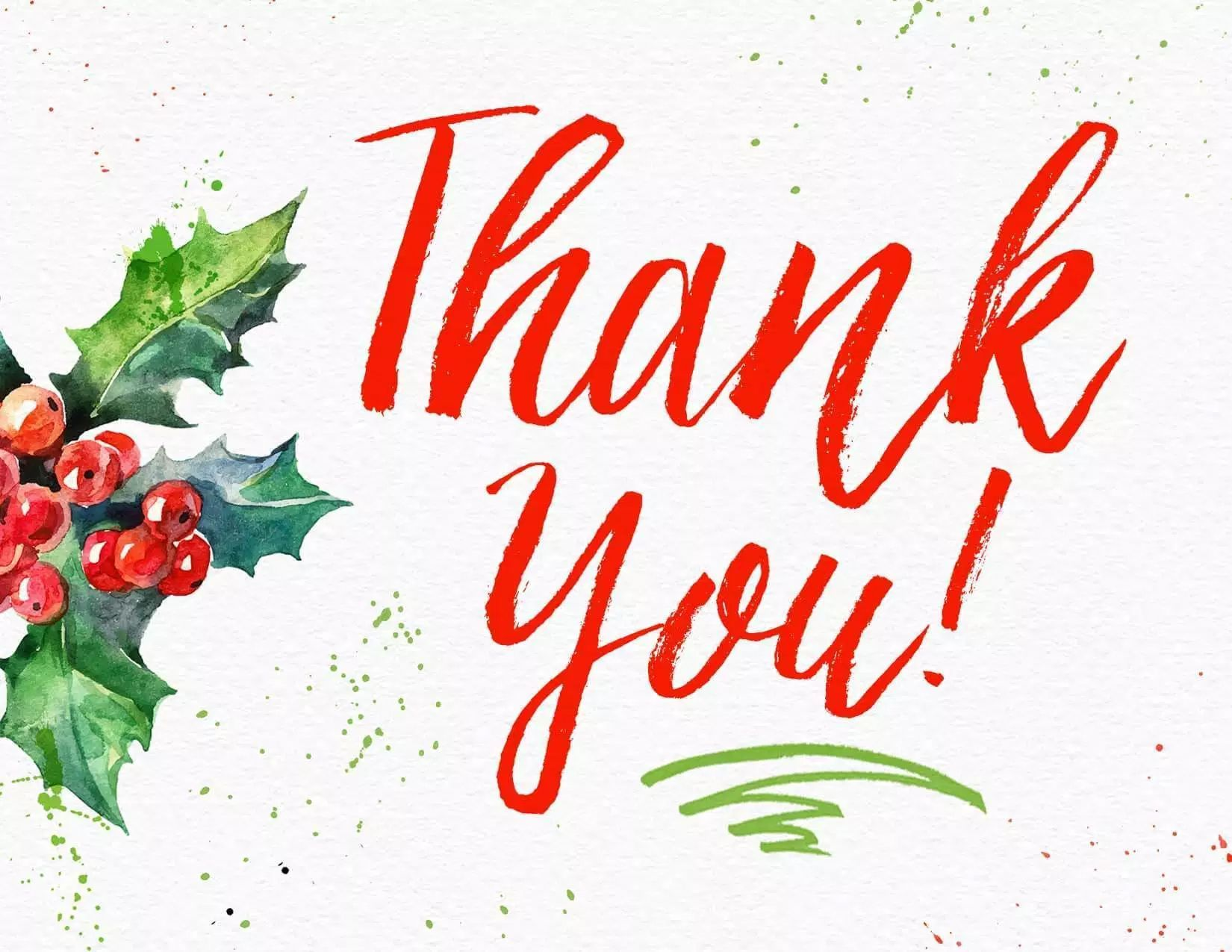Say Thank You With A Free Printable Christmas Thank You Card These Thank You Cards Come In Christmas Thank You Christmas Cards Free Printable Thank You Cards