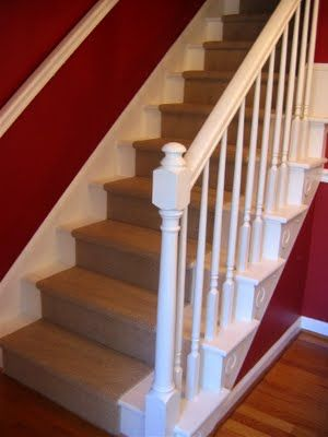 DIY Staircase   Updating A Wall To Wall Carpeted Staircase W/unfinished  Builders