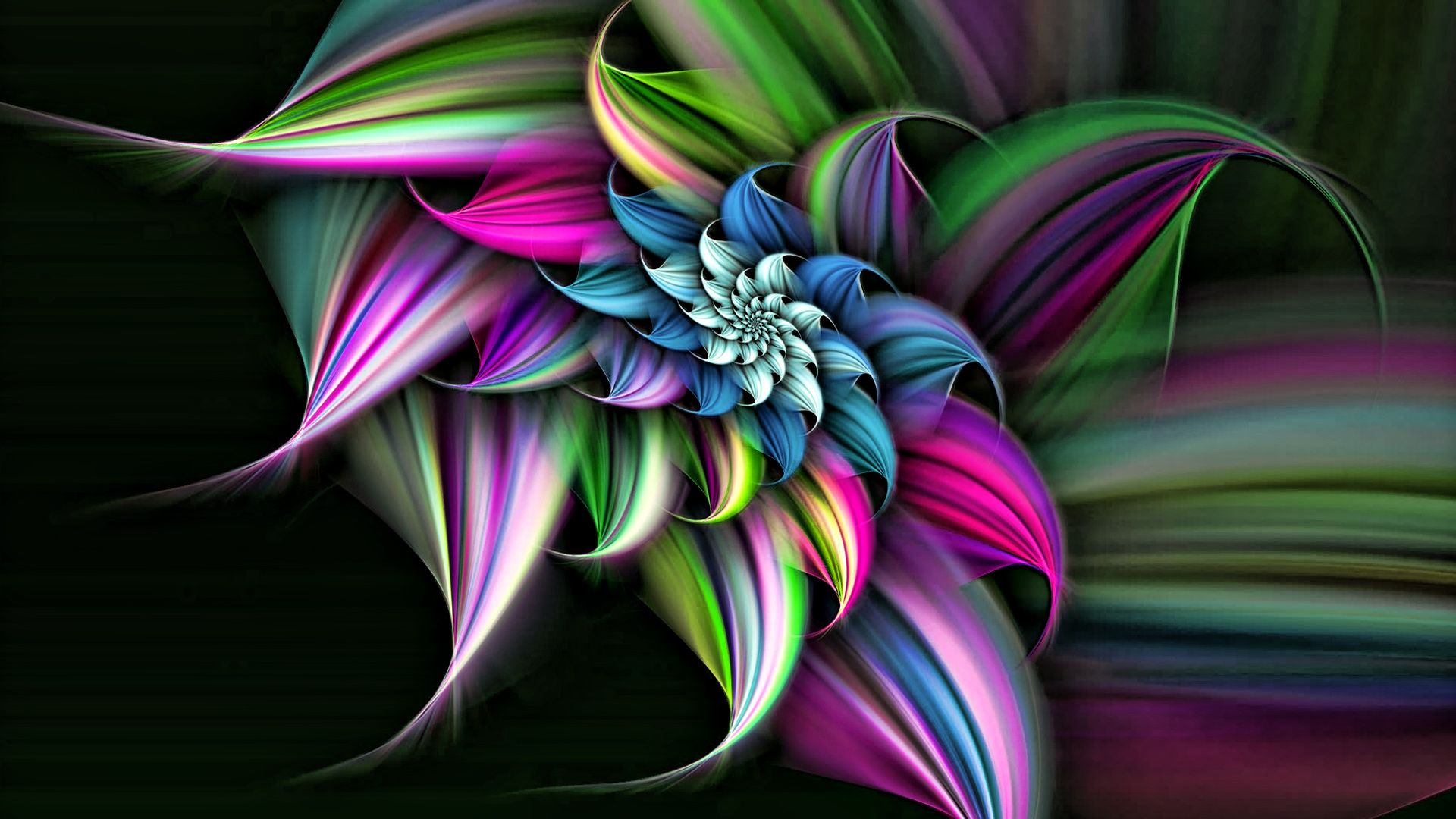 3D Images Rainbow Flower Wallpapers Free Download Wallpaper