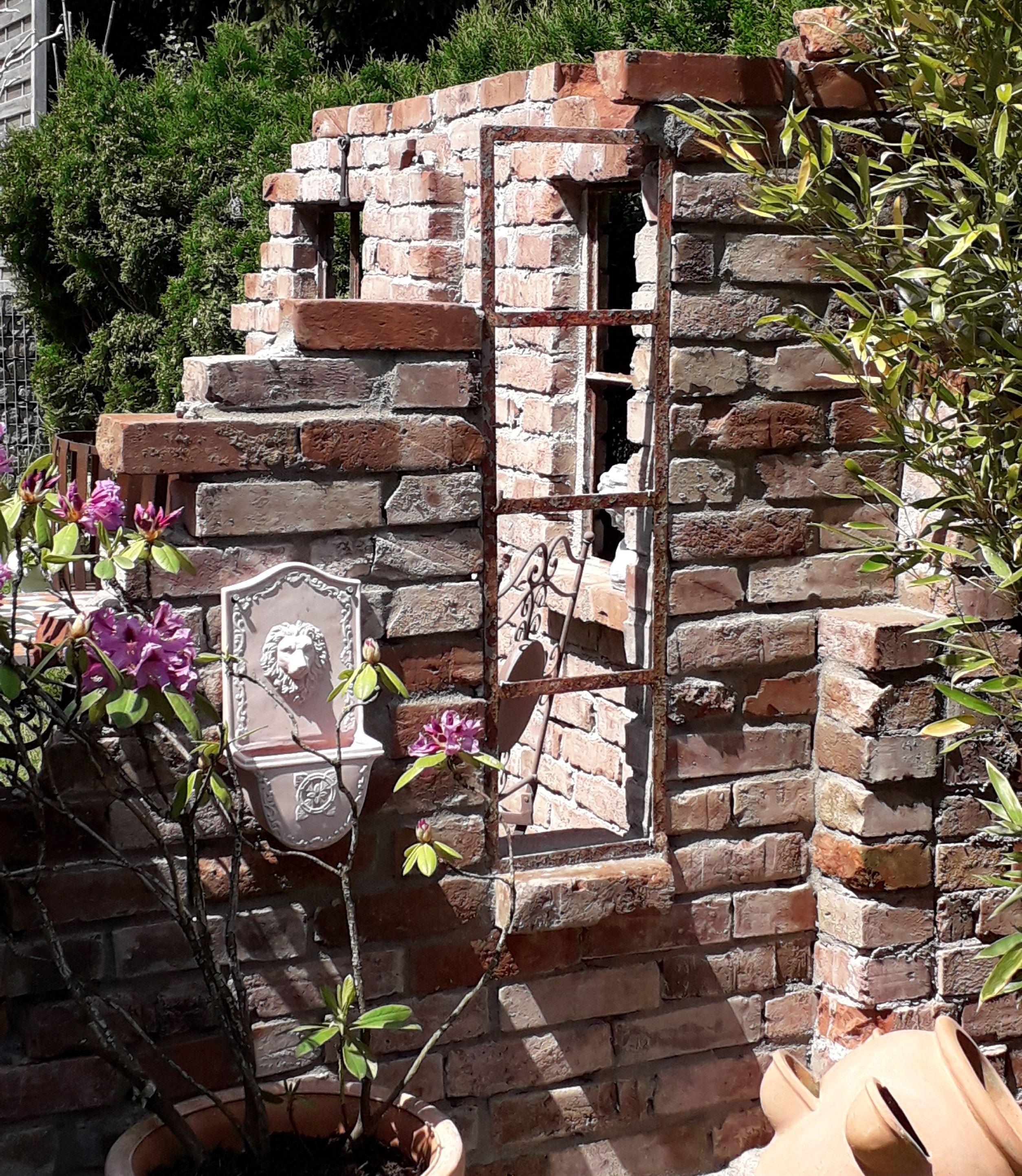 Ruinenmauer Gartenmauern Steinmauer Garten Garten Deko