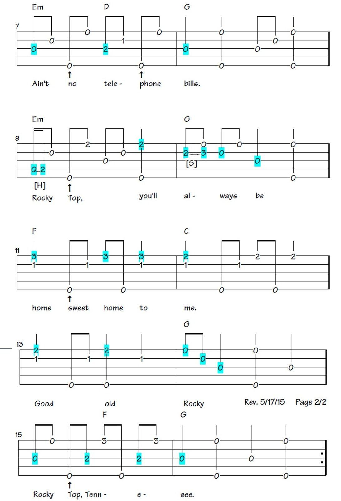 Rocky Top 15   Banjo music, Banjo tabs, Banjo lessons