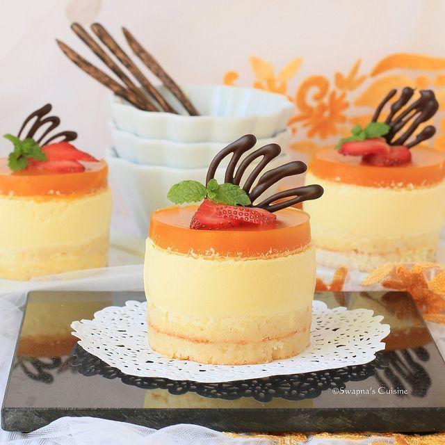 Tarta de queso y mango -2 por swapnaz, a través de Flickr