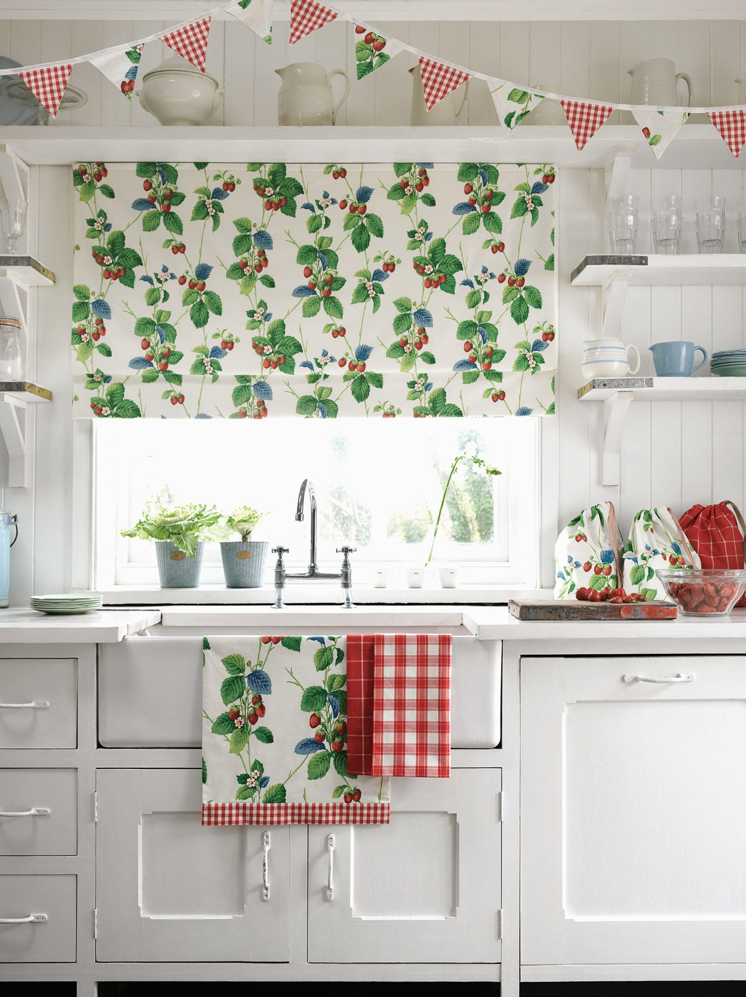 The epitomy of English summertime, our Summer Strawberries fabric by ...