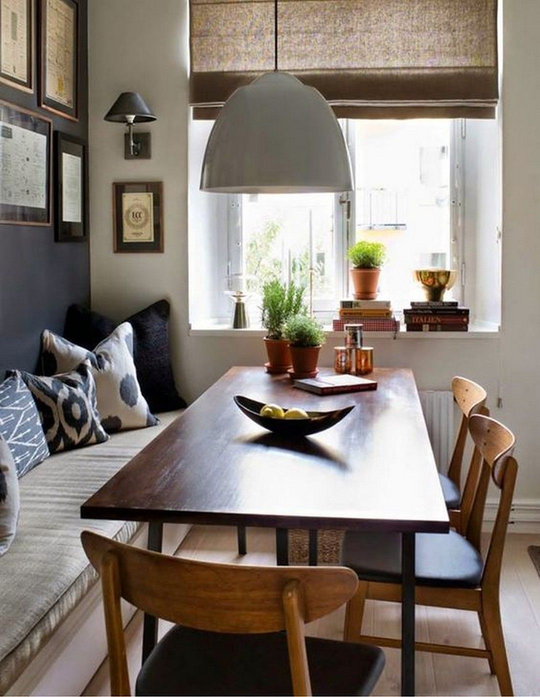 Beech and chairs around  relaxed corner dining table also be mine spaces to lovebecki owens it   on the home rh pinterest