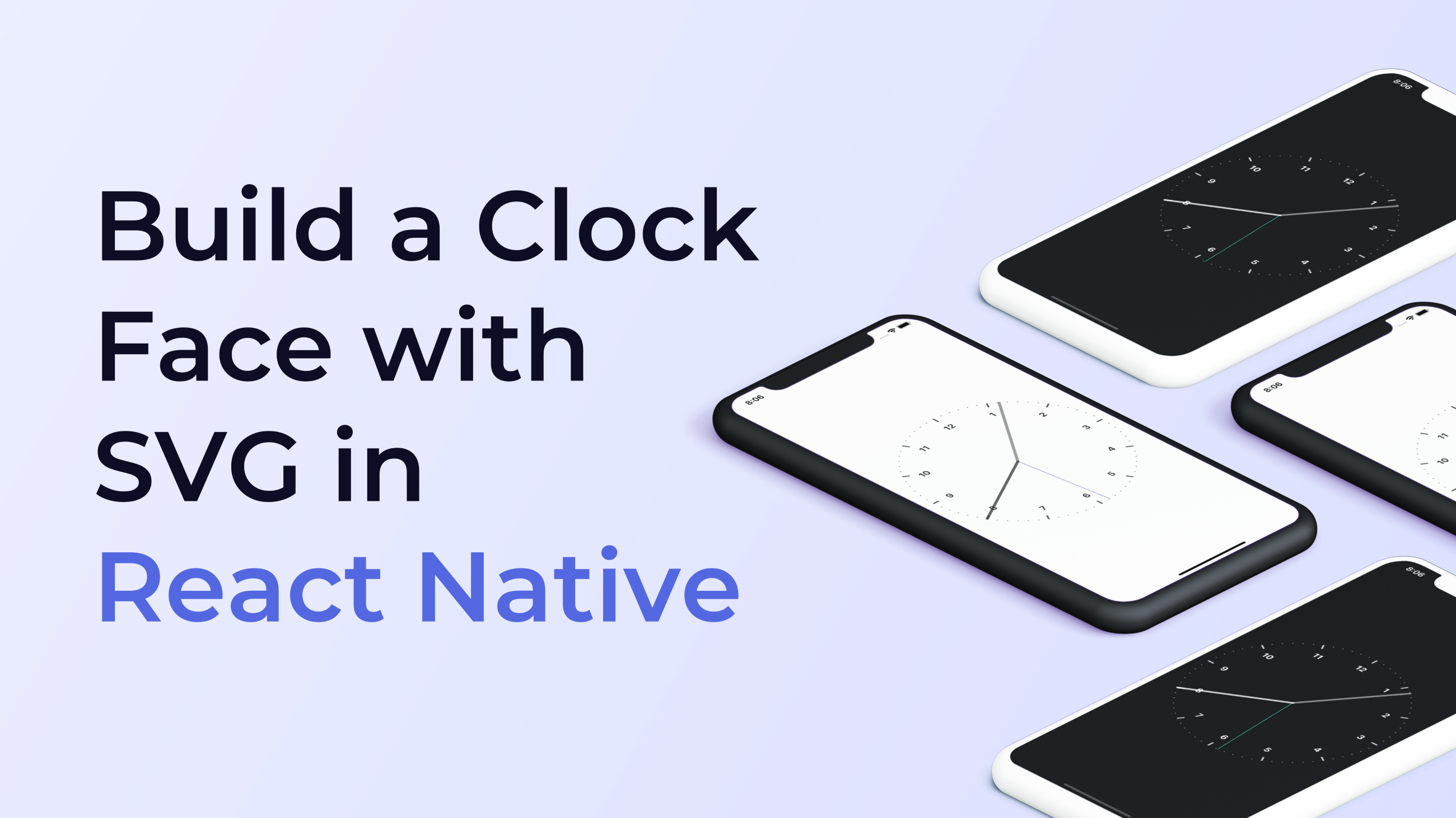 Build a Clock Face with SVG in React Native in 2020