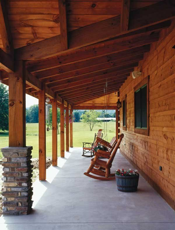 Veranda selber bauen  holz veranda selber bauen betonplatten | Note | Pinterest | Note