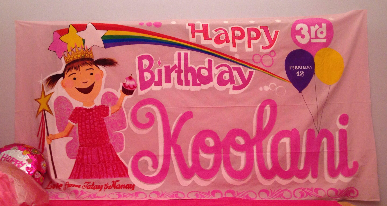 Happy Birthday pinkalicious banner | Pinkalicious banner pink ...