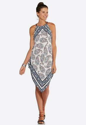 0263d1308eb1 Cato Fashions Paisley Hanky Hem Halter Dress-Plus #CatoFashions  Handkerchief Dress, Your Style