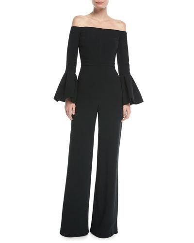 cb31007298a5 Alexis Astoria Off-the-Shoulder Bell-Sleeve Wide-Leg Jumpsuit ...