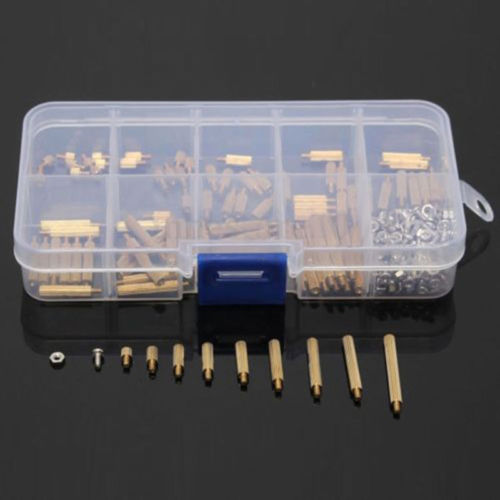 Details About 270 Pcs Male Female Brass Pcb Spacer Standoff Screw Nut Assortment Threaded M2