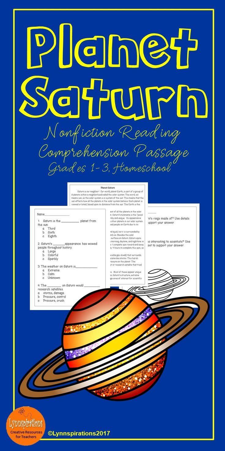 Planet Saturn Reading Comprehension Activity Reading Comprehension Activities Reading Comprehension Comprehension Activities [ 1472 x 736 Pixel ]