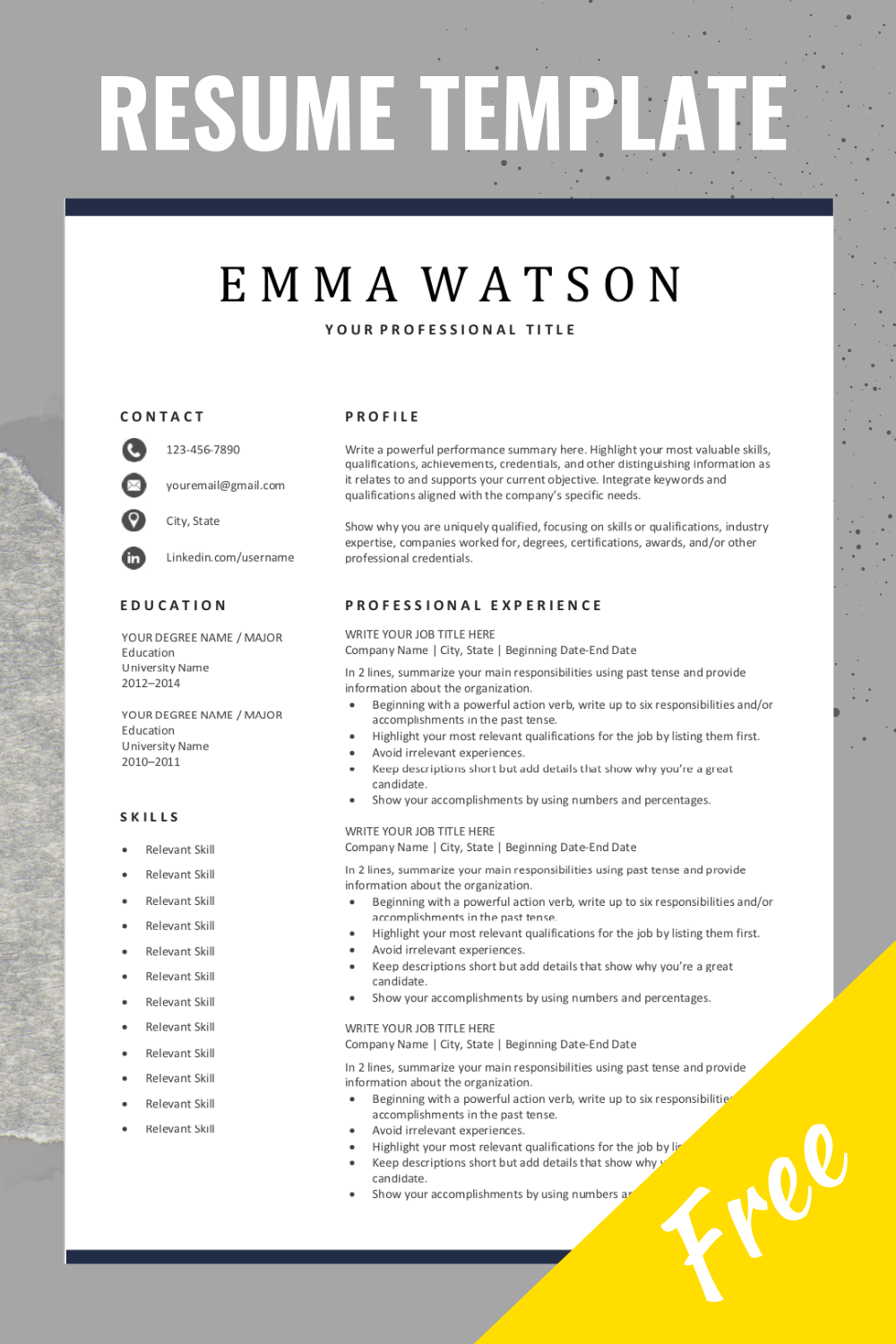 Are You Looking For A Free Editable Resume Template Sign Up For