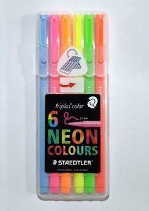 Details About Staedtler Neon Triplus Fineliner Colors Marker Pen
