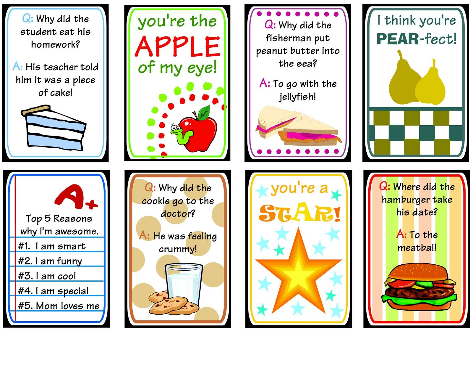 Darling Doodles Lunch Box Printables Lots Of Cute Ideas And Free Printables