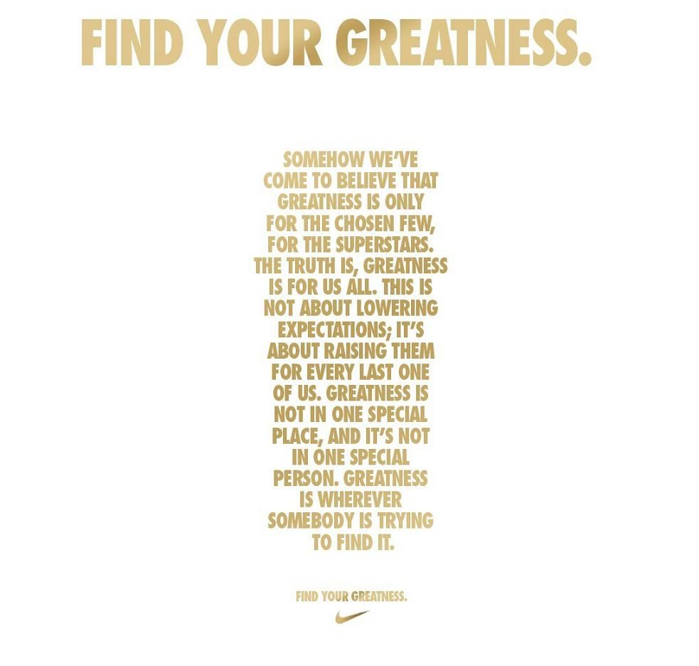 Nike - Find your greatness (epic commercial)