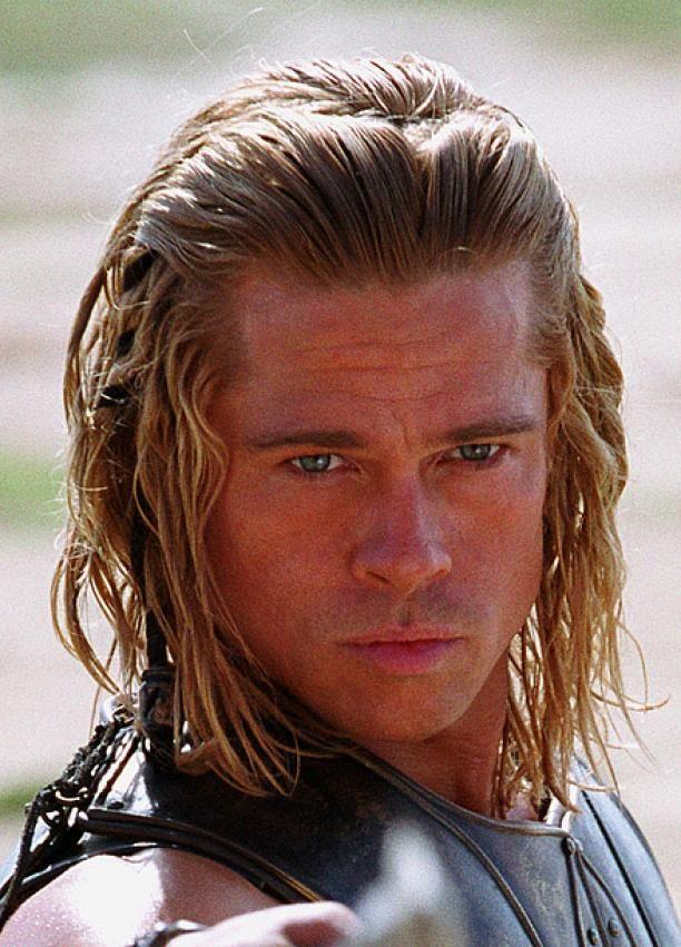 Brad Pitt Movie Hair Dos And Don Ts Brad Pitt Troy