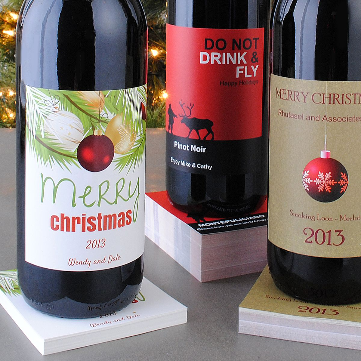 Choose From Hundreds Of Holiday Designs To Make Christmas Wine Labels Wine Winegift Holidaylabels Winelabels Christmaswine Customlabe Christmas Wine Label